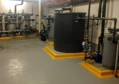 Sophisticated water filtration for commercial building